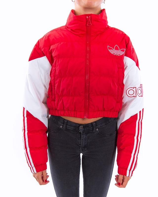 adidas Originals Cropped Puffer Jacket | ED7599 | Röd | Kläder | Footish