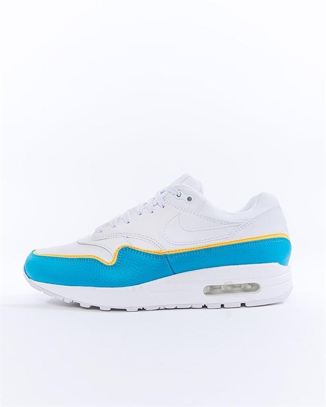 Nike Air Max 1 Turnschuhe WeißBlau | 881101 103